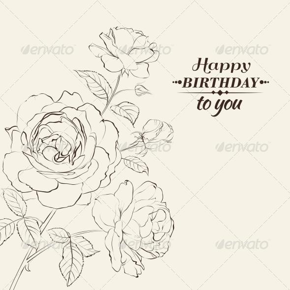 GraphicRiver Contour of Rose 6263940