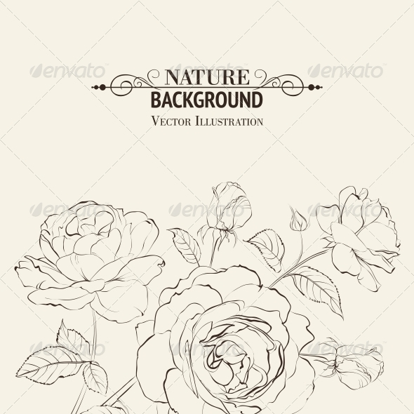GraphicRiver Invitation Card with Roses 6263945
