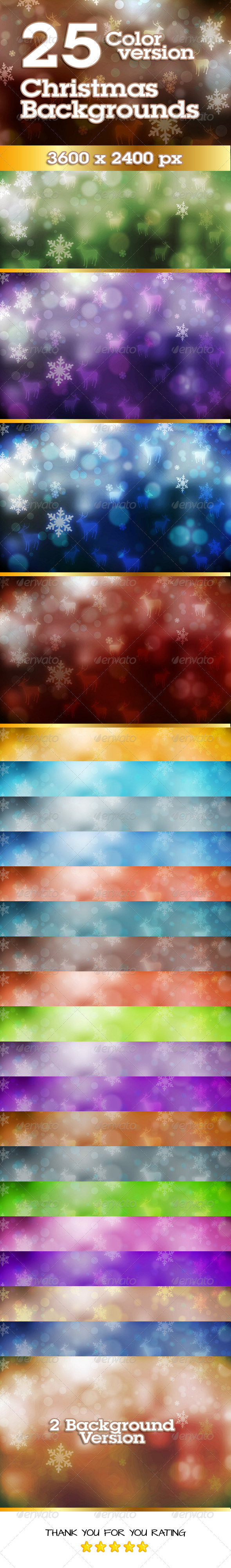 GraphicRiver Christmas Background in 25 Colors variations 6263969