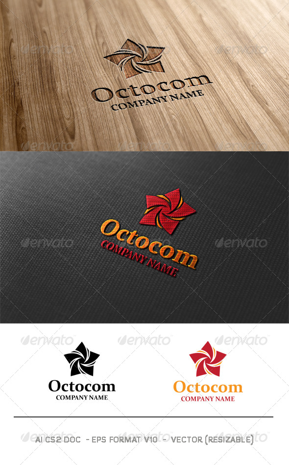 GraphicRiver Octocom Logo 6263988