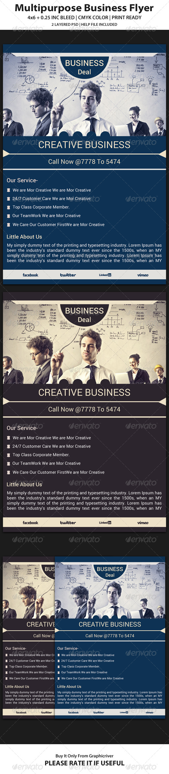 Business Flyer Template 12 - Corporate Flyers