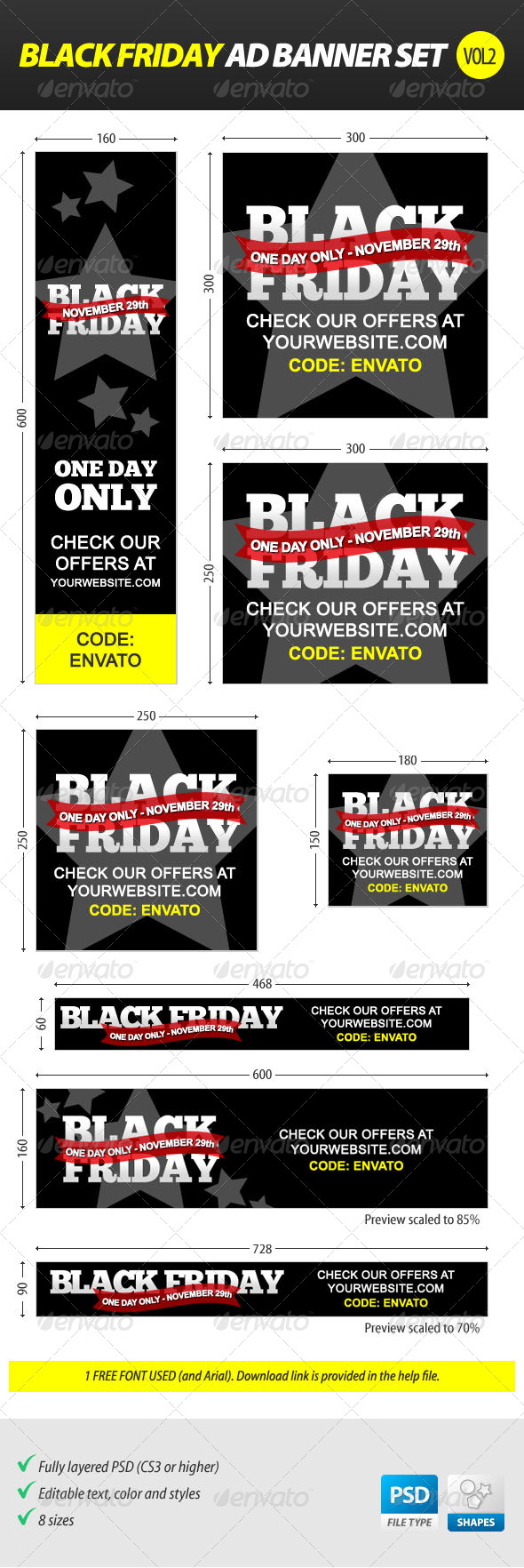 GraphicRiver Black Friday Ad Banner Set vol.2 6264130