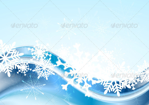 GraphicRiver Blue Abstract Xmas Vector Design 6264209