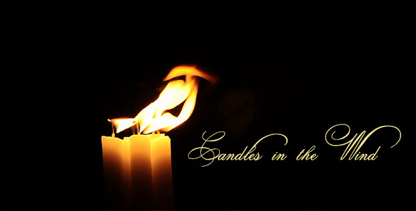 candles in the wind i by catsence videohive. Black Bedroom Furniture Sets. Home Design Ideas