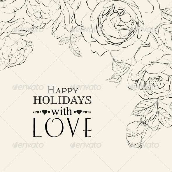 GraphicRiver Hand Drawn Roses 6264461