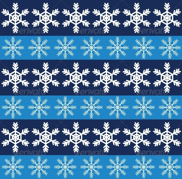 GraphicRiver Seamless Pattern with Snowflakes 6264462