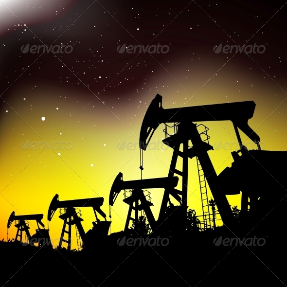 GraphicRiver Oil Pump Jack 6264600