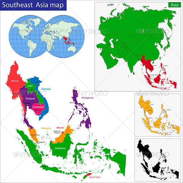 GraphicRiver Southeast Asia Map 6264728