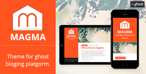 Magma - Clean Responsive Modern Ghost Theme