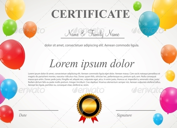 GraphicRiver Glossy Balloons Certificate 6265013
