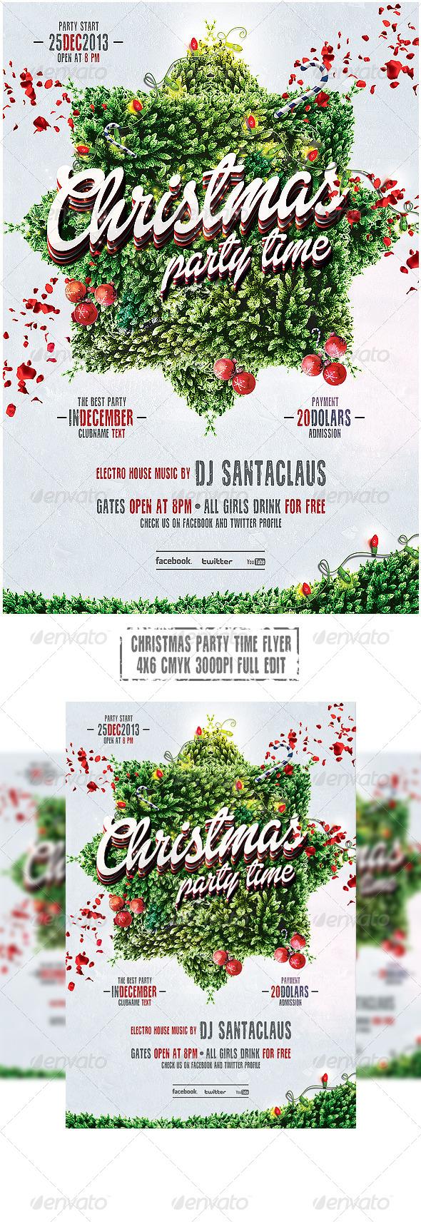GraphicRiver Christmas Flyer 6265510