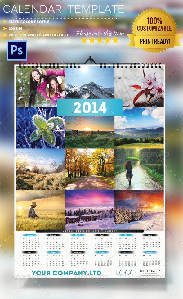 GraphicRiver 2014 Calendar Template 6265537