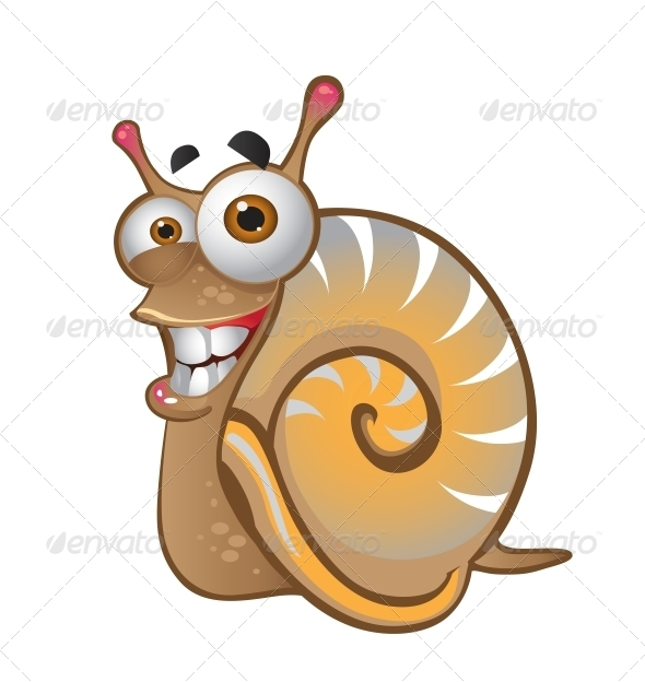 GraphicRiver Snail on the White Background 6265543