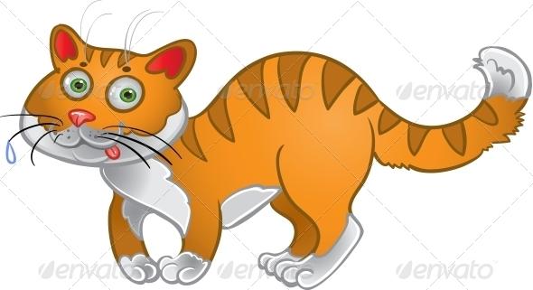GraphicRiver Orange Fun Cat 6265555