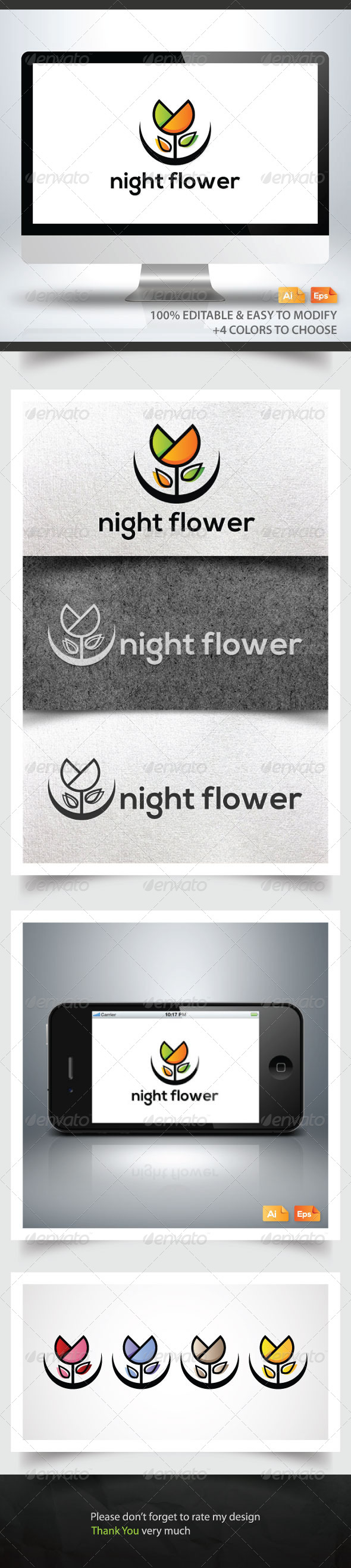 GraphicRiver Night Flower 6265575