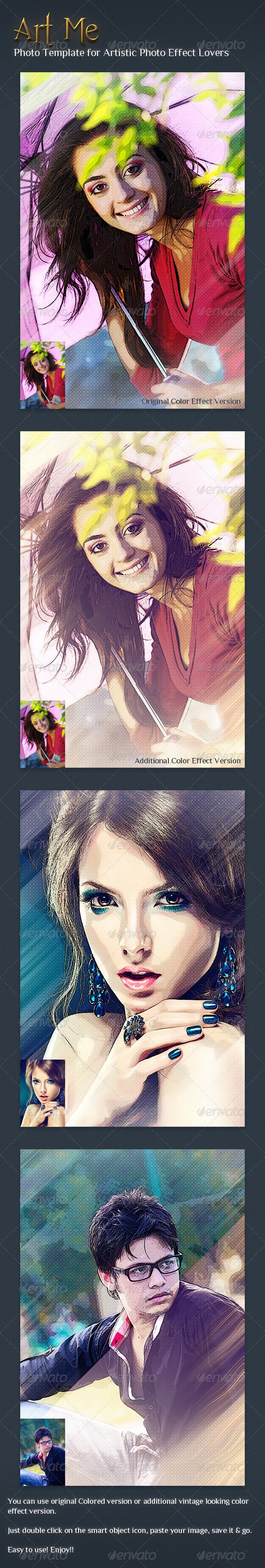 GraphicRiver Art Me Photo Effect Template V1 6265611