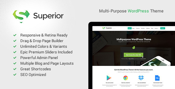 ThemeForest Superior Responsive MultiPurpose WordPress Theme 6212921