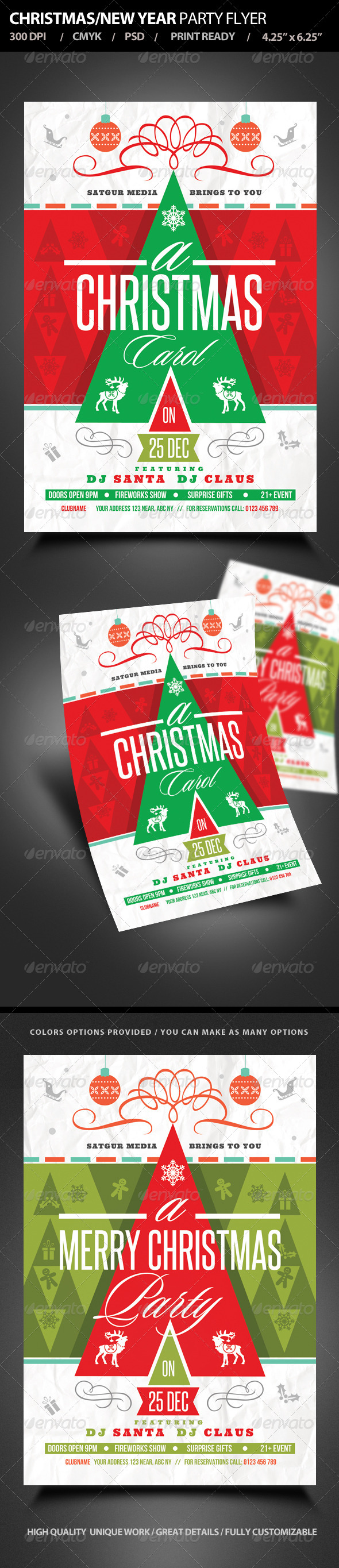 GraphicRiver Christmas New Year Party Flyer 6265638