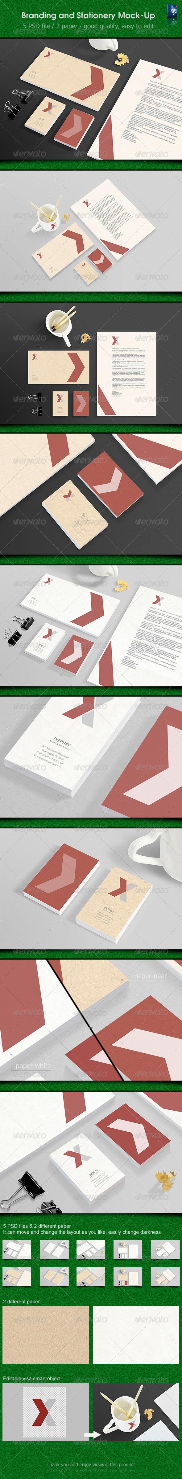 GraphicRiver Stationery Mockups 6255079