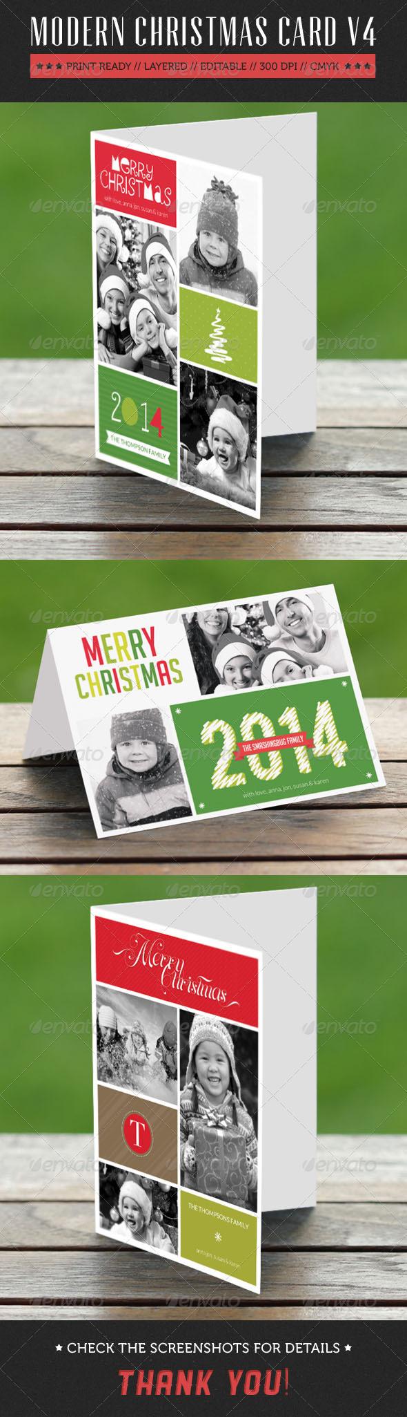 GraphicRiver Modern Christmas Card V4 6254882