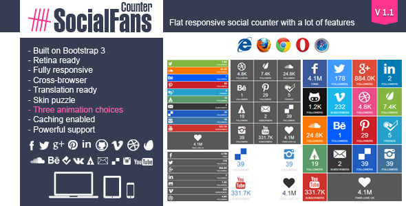 CodeCanyon SocialFans WP Responsive Social Counter Plugin 6217746