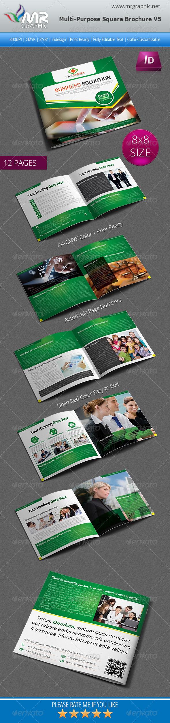GraphicRiver Multipurpose Square Brochure Template Vol-05 6264311
