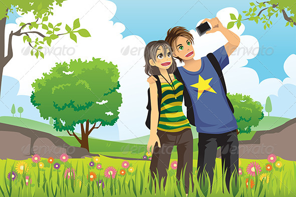 GraphicRiver Tourist Couple 6266474