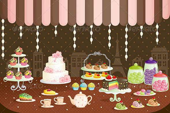 GraphicRiver Cakes Store Display 6266693