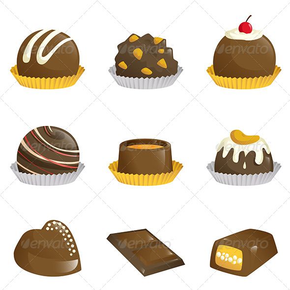 GraphicRiver Chocolates Icons 6266694