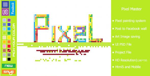 CodeCanyon Pixel Master-Html5 Pixel Painting Game 6266695