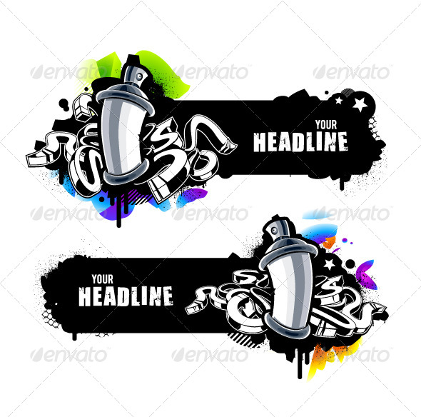 GraphicRiver Graffiti Banners 6266707