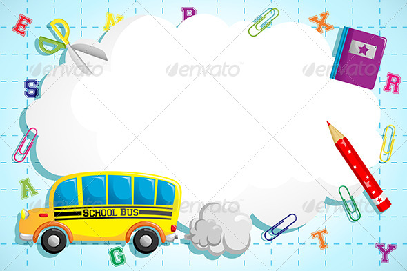 GraphicRiver Back to School Background 6266856