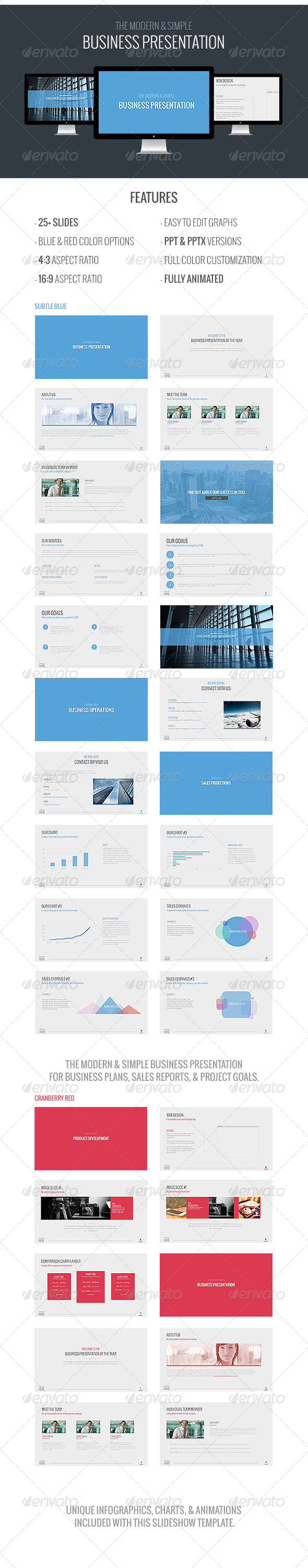 GraphicRiver Modern Business Powerpoint Template 6266977