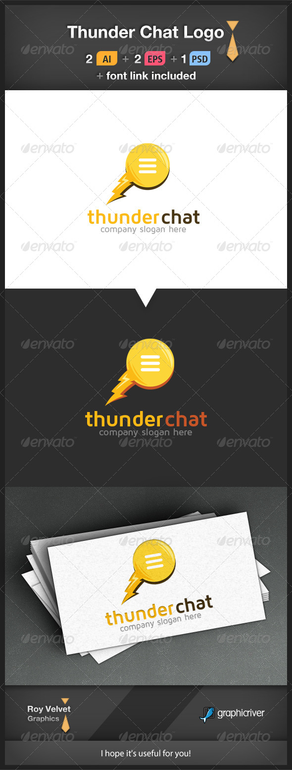 GraphicRiver Thunder Chat Logo 6266990