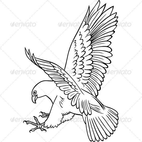 GraphicRiver Attacking Eagle 6267113
