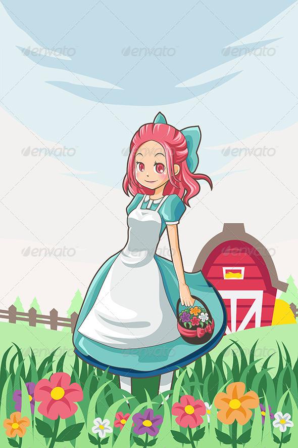 GraphicRiver Country Farm Girl 6267429