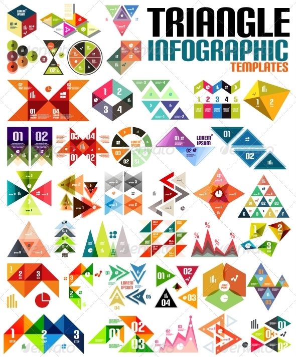 GraphicRiver Huge Geometric Shape Infographic Template Set 6267647