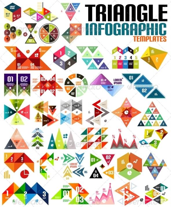GraphicRiver Huge Geometric Shape Infographic Template Set 6267647