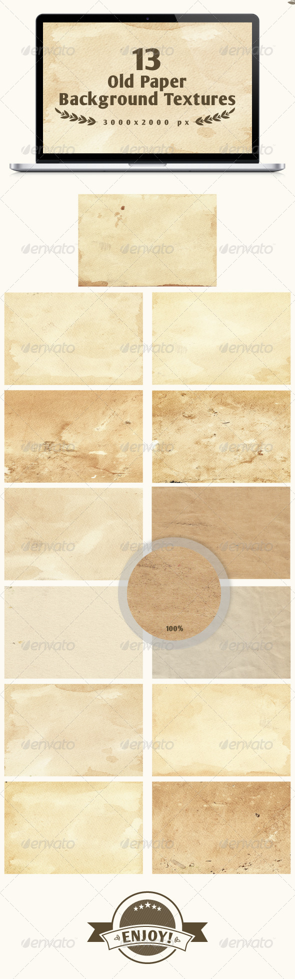 GraphicRiver Set of 13 old paper backgrounds 6238818