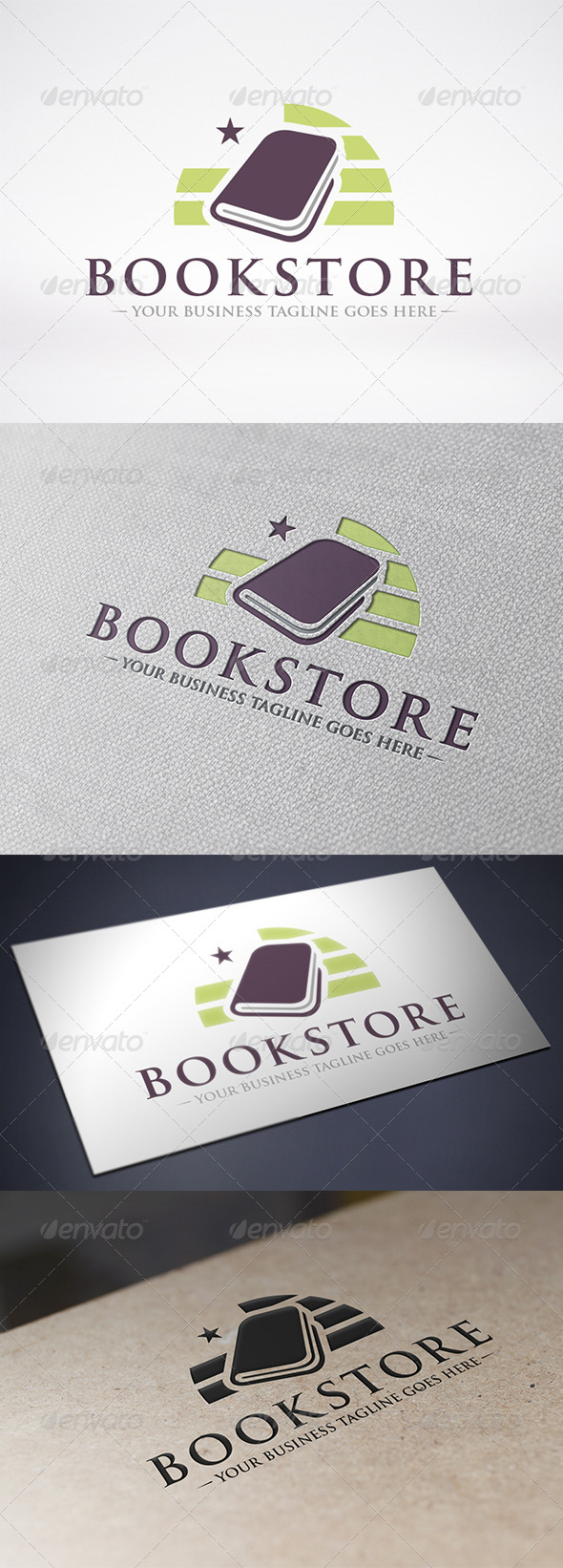 GraphicRiver Book Store Logo Template 6268319
