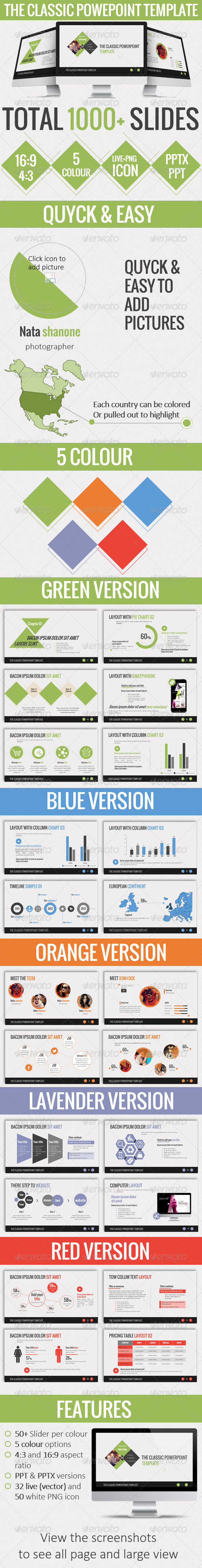 GraphicRiver The Classic Powerpoint Template 6242088