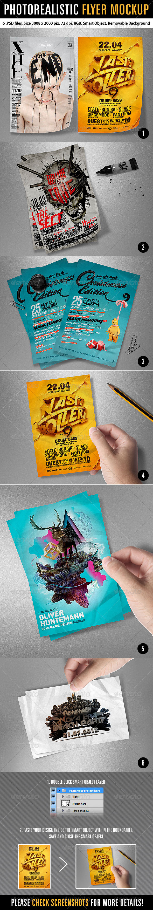 GraphicRiver Photorealistic Flyer Mockup 6268981