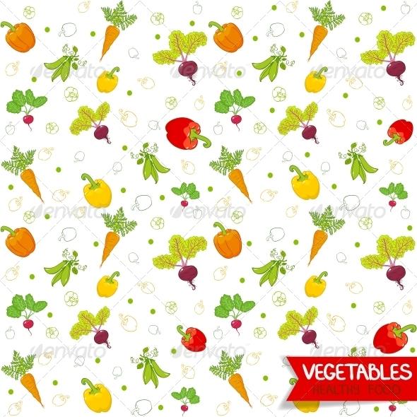 GraphicRiver Vegetables Pattern 6268994