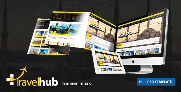 ThemeForest Travel Hub Touring Packages PSD Template 6269136