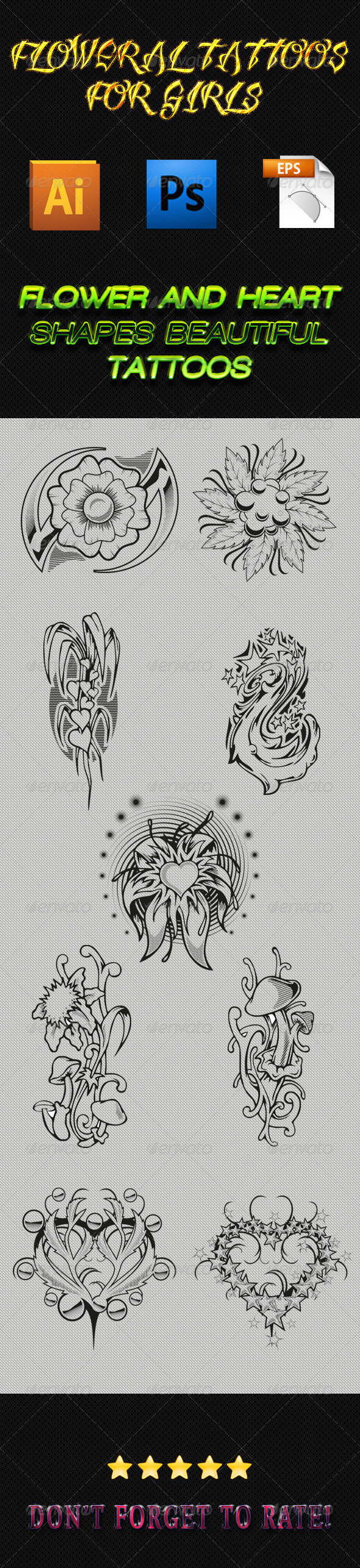 GraphicRiver Tattoos for Girls 01 6269153