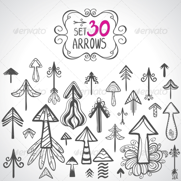 GraphicRiver set arrows 6269278