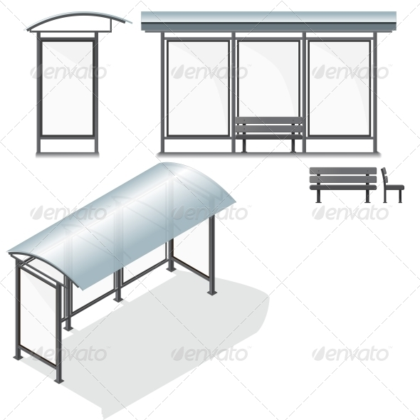 GraphicRiver Bus Stop Empty Design Template for Branding 6269289