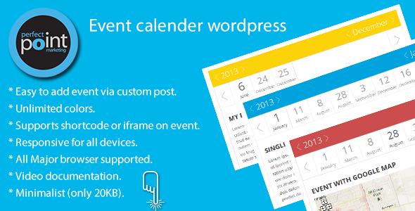 Event calender - Responsive WordPress Widget