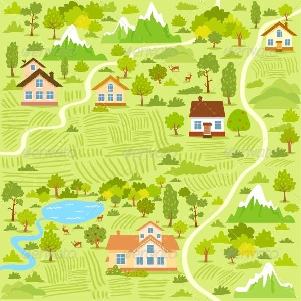 GraphicRiver Village Map 6269300