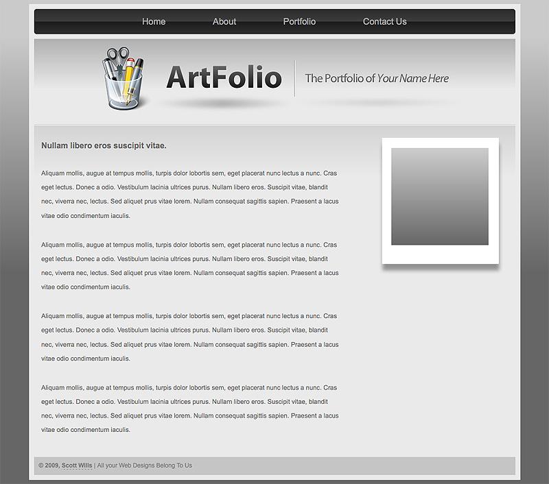 Art Folio   Portfolio Template
